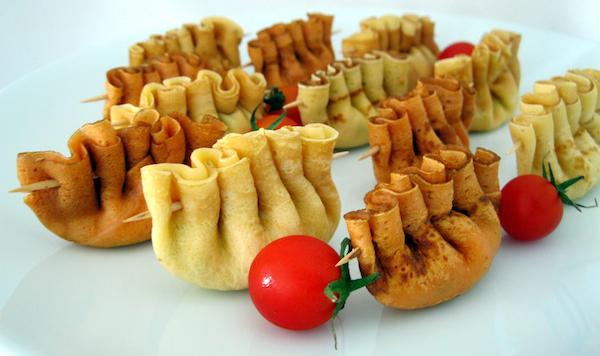 Peynirli pileli krepler