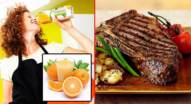 Et yemeklerini portakal suyuyla tüketin