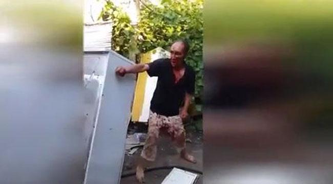 Buzdolabına ter döktüren hareket