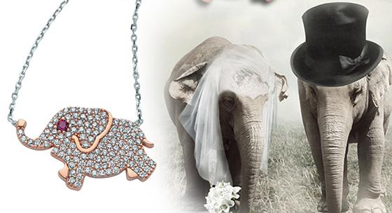 Uğurlu fil kolyeleri