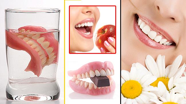 Diş protezi temizleme yöntemi