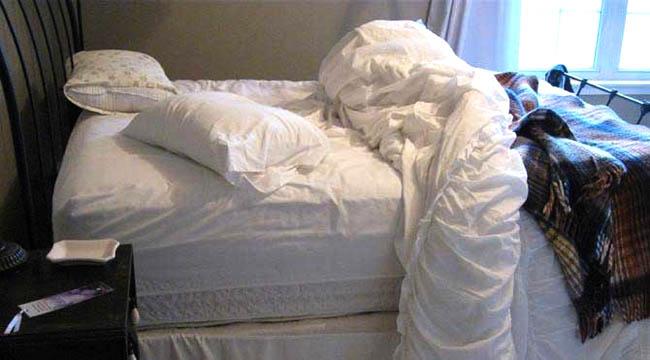 Sabahleyin yatağınızı sakın toplamayın
