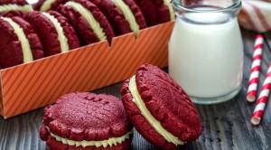 Kırmızı kadife kurabiye